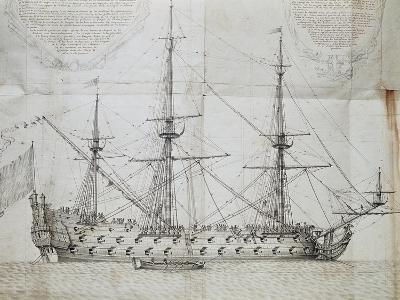 Ship at Anchor, from Atlas De Colbert, France, 17th Century--Giclee Print