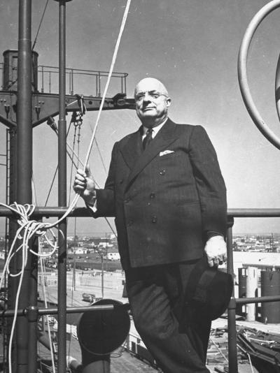 Ship Builder Henry J. Kaiser-Hansel Mieth-Photographic Print