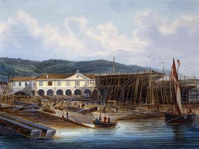Ship Construction in San Rocco Shipyard--Giclee Print