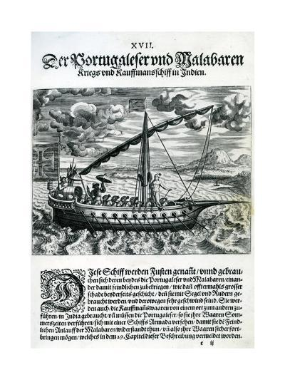 Ship from 'India Orientalis', 1598-Theodore de Bry-Giclee Print