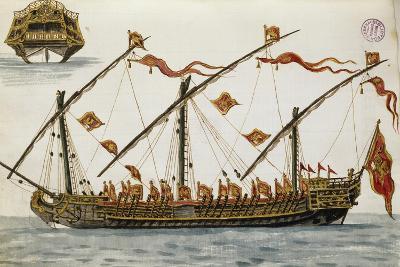 Ship from Venetian Fleet by Jan Grevenbroeck (1731-1807), Italy, 18th Century--Giclee Print