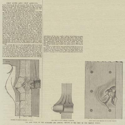 Ship Guns and Ship Armour--Giclee Print