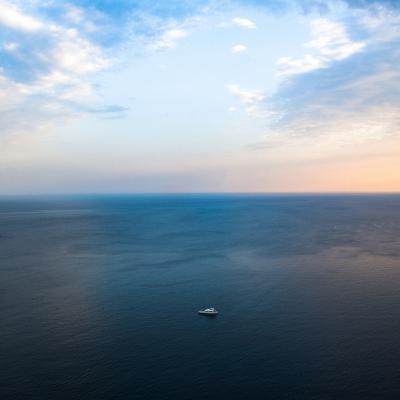 Ship in the Sea-Oleh Slobodeniuk-Photographic Print