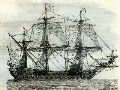 Ship Le Soleil Royal UK--Giclee Print