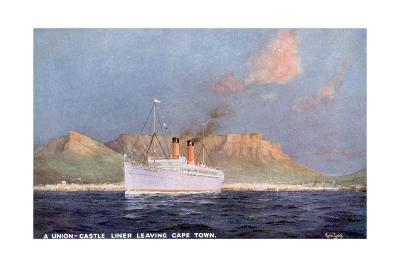 Ship Leaves Capetown-Martin Russell-Giclee Print