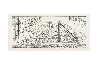 Ship of Hatasu Laden. Egypt, 1879--Giclee Print