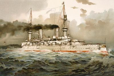 Ship of the Line 'Kaiser Wilhelm', Illustration from 'Deutschland Zur See', 1910--Giclee Print