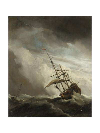 Ship on the High Seas Caught by a Squall, (The Gust), C. 1680-Willem van de Velde-Giclee Print