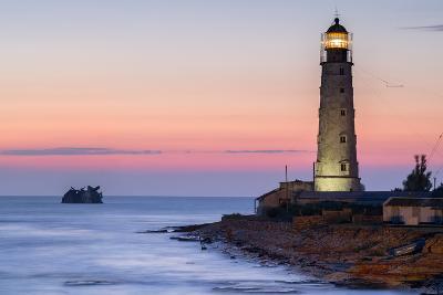Ship Rack and Lighthouse-sergejson-Photographic Print