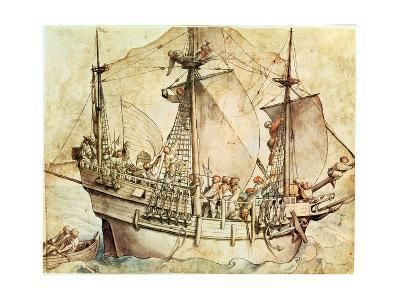 Ship with Armed Men-Hans Holbein the Younger-Giclee Print