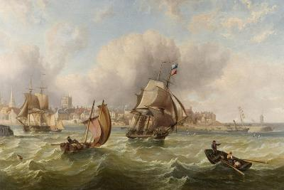 Shipping at the Mouth of Hartlepool Harbour--Giclee Print