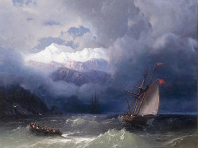 Shipping in Stormy Seas, 1868-Ivan Konstantinovich Aivazovsky-Giclee Print