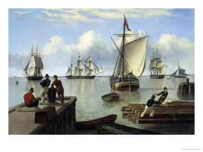 Shipping in the Humber-John Of Hull Ward-Giclee Print