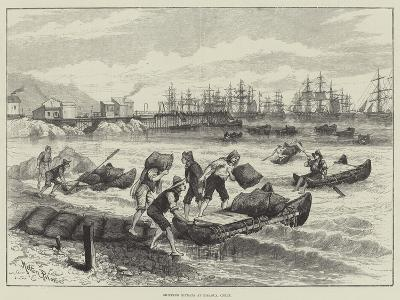 Shipping Nitrate at Pisagua, Chile-Melton Prior-Giclee Print