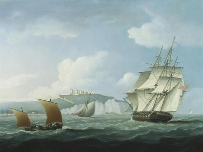 Shipping off Dover Castle-Thomas Buttersworth-Giclee Print