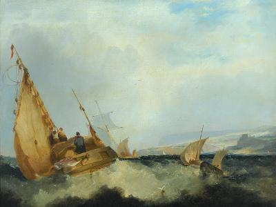 Shipping Off the Isle of Wight-John Sell Cotman-Giclee Print