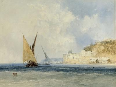 Shipping off the Mediterranean Coast, 1848-John Callow-Giclee Print
