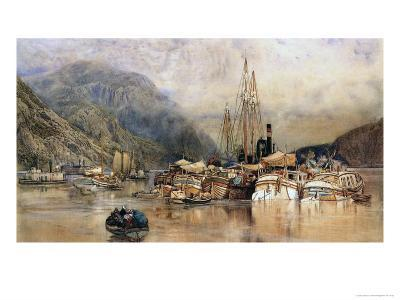 Shipping on the Hudson River-Samuel Colman-Giclee Print