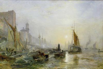Shipping on the Thames-Samuel Bough-Giclee Print