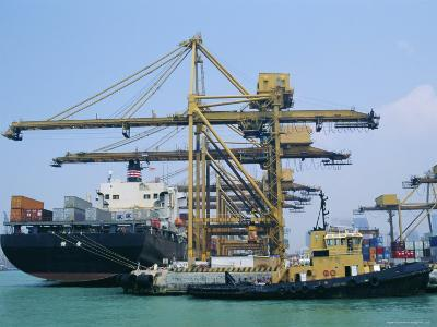 Shipping, Singapore Harbour, Singapore-Fraser Hall-Photographic Print