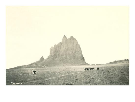 Shiprock Geological Formation, New Mexico--Art Print