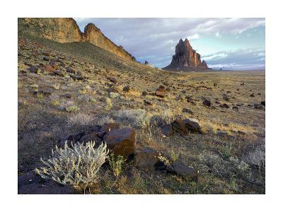 Shiprock, the basalt core of an extinct volcano, New Mexico-Tim Fitzharris-Art Print