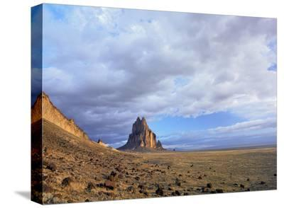 Shiprock, the basalt core of an extinct volcano, New Mexico-Tim Fitzharris-Stretched Canvas Print