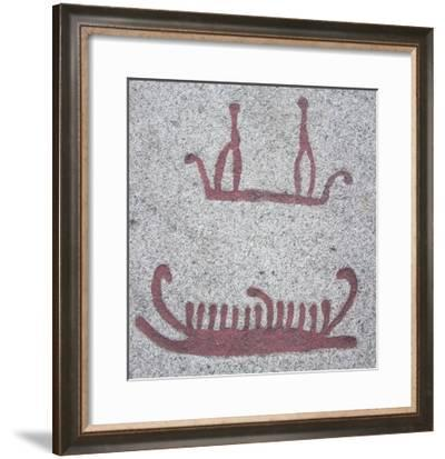 Ships and Their Crews (Rock Carving)--Framed Giclee Print