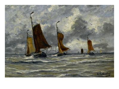 Ships at Full Sea-Hendrik William Mesdag-Art Print