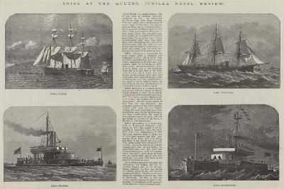 Ships at the Queen's Jubilee Naval Review-Edwin Weedon-Giclee Print