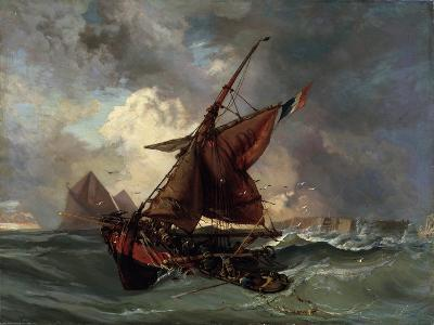 Ships in a Stormy Sea, 19th Century-Eugene Delacroix-Giclee Print