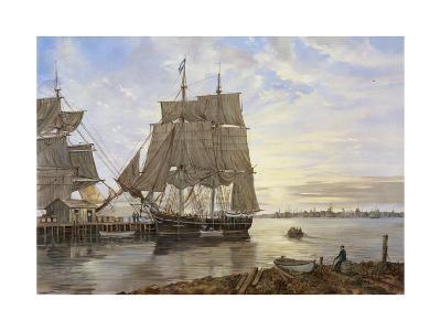 Ships in the Harbor-Jack Wemp-Giclee Print