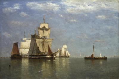 Ships Lying Off Flushing, 1869-Paul Jean Clays-Giclee Print
