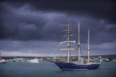 Ships Moored at Puerto Ayora Harbor-Jad Davenport-Photographic Print