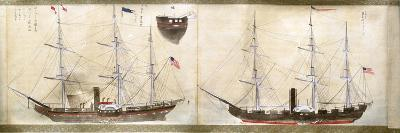 Ships of Commodore Perry's American Expedition to Japan of 1852-1854--Giclee Print