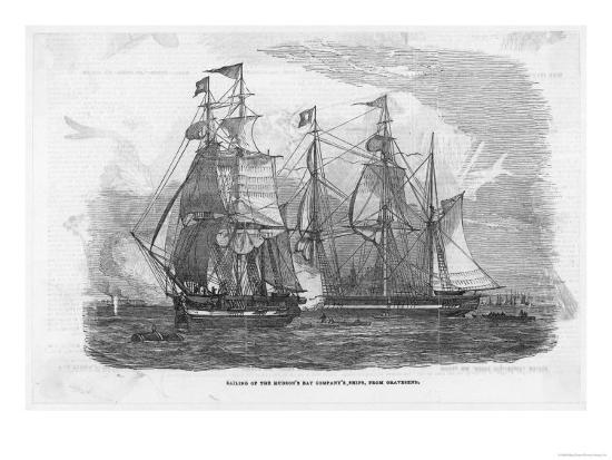 Ships of the Hudson's Bay Company Sail from Gravesend England--Giclee Print