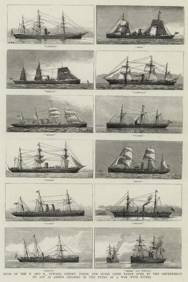Ships of the P and O--Giclee Print