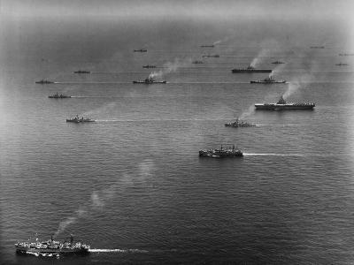 Ships of the US Sixth Fleet--Photographic Print