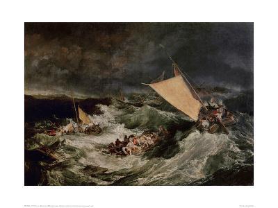 Shipwreck, 1800-J^ M^ W^ Turner-Giclee Print