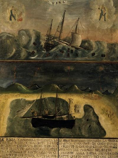 Shipwreck, Ex-Votive, Shrine of Our Lady of Bonaria, Cagliari, Sardinia, Italy--Giclee Print