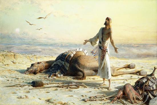 Shipwreck in the Desert. 1886-Carl Haag-Giclee Print