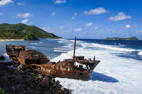 Shipwreck on the East Coast of Tutuila Island, American Samoa, South  Pacific Photographic Print by Michael Runkel | Art com