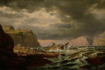 Shipwreck on the Norwegian Coast-Johan Christian Clausen Dahl-Giclee Print