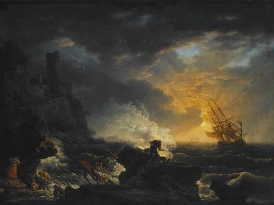Shipwreck, Second Half of the 18th C-Claude Joseph Vernet-Giclee Print