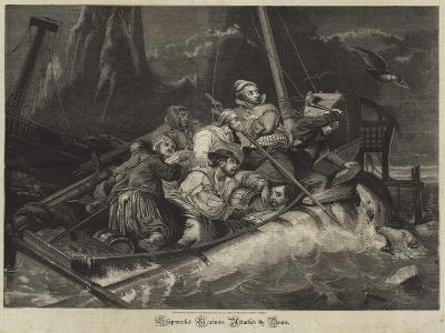Shipwrecked Mariners Attacked by Bears--Giclee Print