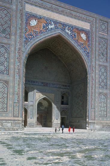 Shir-Dar Madrasa in Samarkand, 17th century. Artist: Unknown-Unknown-Photographic Print