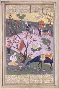 Shirin Bathing, C.1580
