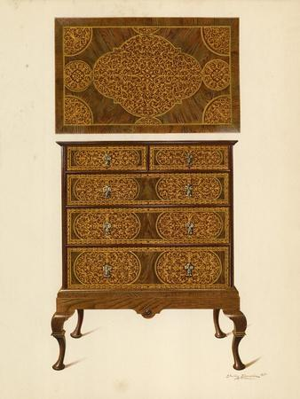 Chest of Drawers Inlaid with Marqueterie