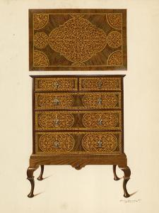 Chest of Drawers Inlaid with Marqueterie by Shirley Charles Llewellyn Slocombe