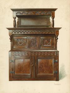 Oak Court Cupboard by Shirley Charles Llewellyn Slocombe